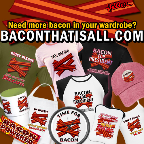 Quiet Please I'm Eating Bacon - Need more bacon in your wardrobe? BACONTHATISALL.COM